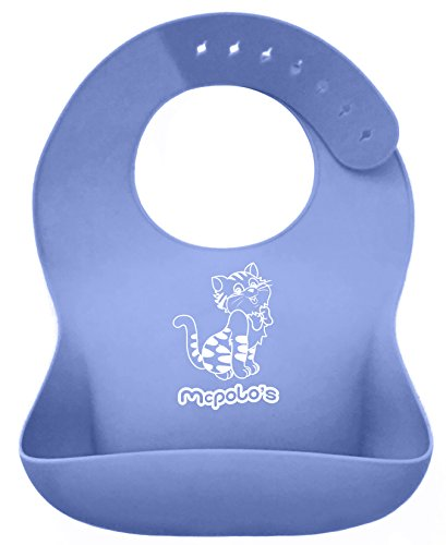 Care Bear Lionheart (McPolo's Very Smiley Kitty iBib 100% Portable Silicone Baby Bib - Waterproof with Crumb Catcher Pocket Ultra Soft Easily Wipes Clean Stains Off – Best for 2 MO to 6 YO Babies Toddlers PreSchoolers)