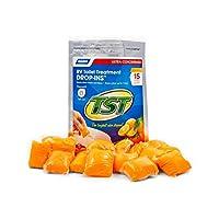 Camco TST Tratamiento de inodoro RV Ultra-Concentrado de naranja con aroma a cítricos, sin formaldehído, descompone los residuos y el tejido, caja fuerte para fosas sépticas, paquete de 15 (41189)