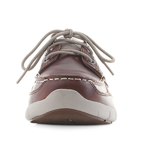 Cinnamon Uomo Barca Clovehitch Scarpe Oiled Leather da Brown Sebago Lite IXwxXU