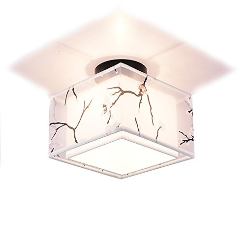 Modern LED Pendant Flush Mount Ceiling Fixtures Light New Chinese style ceiling lamp square led to turn off the door to enter the door fountain lantern storage room lights, 180 h180mm by XBLIGHTING