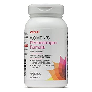 GNC Womens Phyto-Estrogen Formula for Common Menopause Symptom Relief - 120 Softgels