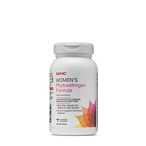 GNC Womens Phytoestrogen Formula, 120 Softgels, Supports Common Menopause Symptoms