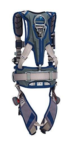 3M DBI-SALA 1112551 ExoFit STRATA, Aluminum Back & Side D-Rings, Locking QC Buckles with Sewn in Hip Pad & Belt, Medium, Blue/Gray