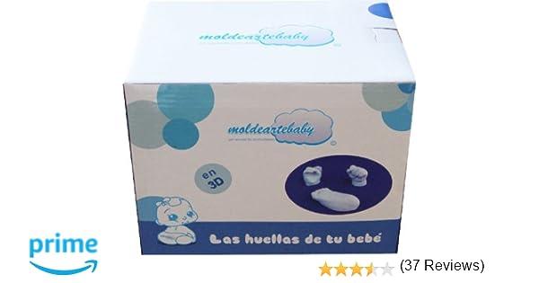 La Huellas de Bebe En 3D del Pie y Mano,Con todo el material necesario para realizar las esculturas del recién nacido.(HASTA 7 HUELLAS): Amazon.es: Bebé