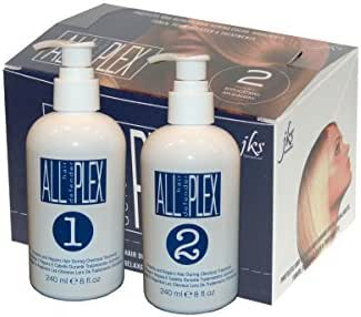 ALL hd PLEX bond treatment up to 80 application Italian formula Kit for Bleaching, Coloring, Perm and Relaxer application protection for All Hair Types, up to 80 Application Large Kit