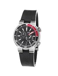Oris Men's 7164RS TT1 Pro Diver 1000m Black Dial Rubber Strap Watch