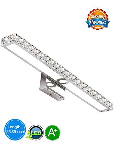 LED Vanity Lights,645mm,SOLFART Crystal Wall Lights Vanity Lights For Bathroom Vanity Light (3 Light Bathroom Fixture)