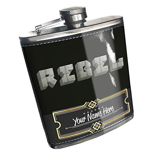 - Neonblond Flask Rebel Concrete Stone Blocks Custom Name Stainless Steel