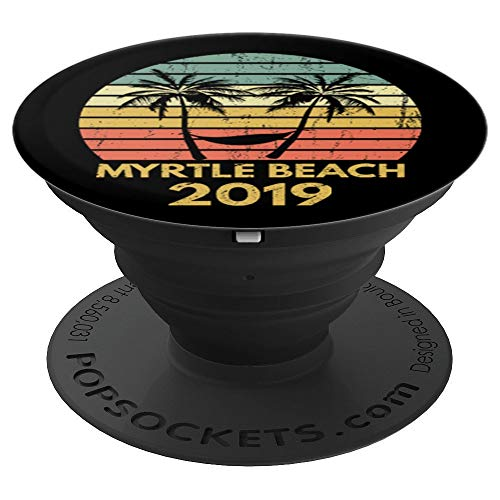 Vintage Myrtle Beach 2019 Family Vacation PopSockets Grip and Stand for Phones and Tablets