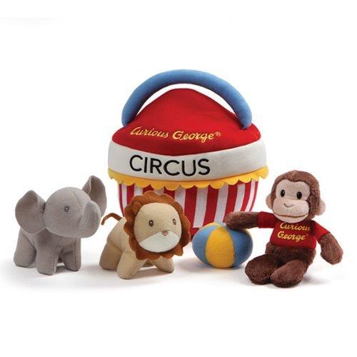 GUND Curious George Circus Sensory Skills Stuffed Animal Plush Playset, 5 pieces