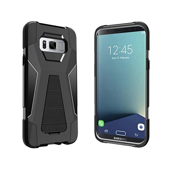 Turtlearmor | compatible for samsung galaxy s8+ case | s8 plus case | g955 [dynamic shell] hybrid dual layer hard shell… 2 dual layer protection - soft inner silicone skin and hard outer pc plastic for the ultimate protection kickstand - built-in stand allows for hands-free media viewing in landscape or portrait mode hundreds of designs to choose from - offers a variety of unique, cool, and custom designs.