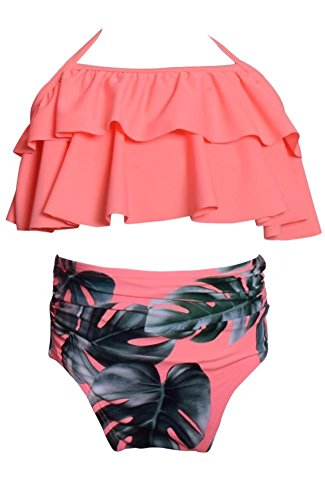 Ameyda Mommy & Daughter Family Matching Floral Print High Waist Bikini
