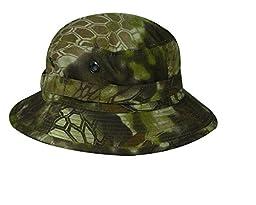 Kryptek Boonie Hat with Adjustable Chin Strap, Kryptek Highlander Camo