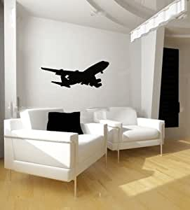 Amazon.com: Boeing 747 Airplane Silhouette Vinyl Wall Decal Sticker