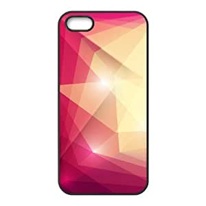 DIY Cover Case with Hard Shell Protection for Iphone 5,5S case with Geometry lxa#227292