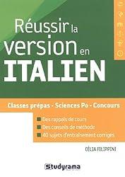Réussir la version en italien