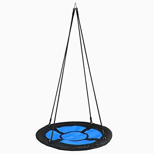 SUPER DEAL Swing Set, 40'' Kids Web Tree Swing Saucer Swing + 72'' All-Steel All Weather Stand Combo (Blue, XXL) by SUPER DEAL (Image #3)