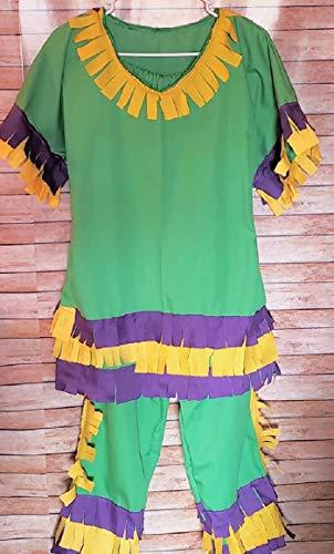Mardi Gras Chicken Run Costume Adult Chicken Run Costume