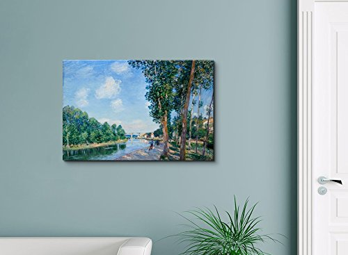 Saint Mammes June Sunshine by Alfred Sisley Print Famous Painting Reproduction