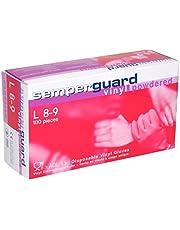Semperguard wegwerphandschoenen vinyl gebufferd box, per stuk verpakt (1 x 100 stuks)