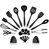 Kitchen Utensils Set, Cooking Utensils Set, 22 Silicone Kitchen Utensil Set, Kitchen Cooking Tool BPA Free Non Toxic Kitchen Gadgets Cookware Set for Nonstick Cookware by SURNORME