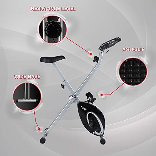 Ultrasport F-Bike Advanced, Cyclette Pieghevole con Display LCD 6