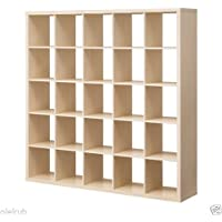 IKEA Kallax 5 x 5 Bookshelf Storage Shelving Unit Bookcase BIRCH NEW Rep Expedit