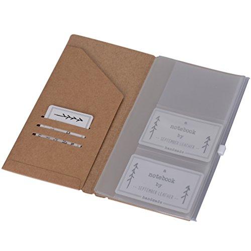 Kraft Folder Zipper Pouch Sleeve