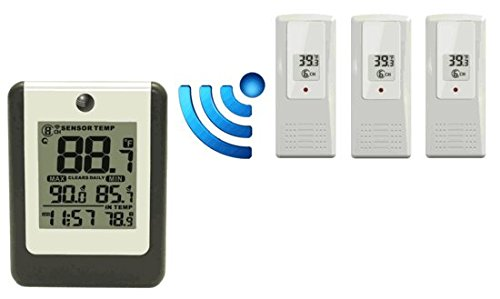 Ambient WS-16-X3 Wireless 8-Channel Thermometer with Thre...