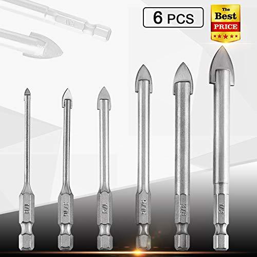 Moffo 6Pcs Masonry Drill Bits Set 1/8