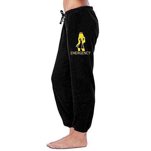 Kim Women's Workout Pants Sexy Lady Figure Black Size M