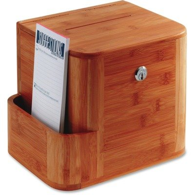 Safco Products 4237CY Bamboo Suggestion Box, Cherry by Safco Products