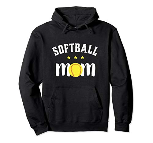 Softball Mom Hoodie for Proud Mother and Sports Parents