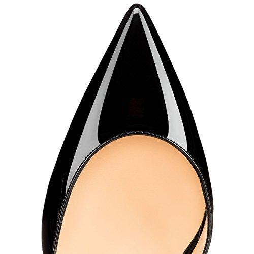 Cheville de Talon Pan Chaton Chaussures 65MM Escarpins Femmes soirée Black de Bout Side Caitlin Escarpins Pointu Semelle de Rouge Sangles 0f8zxPdwq