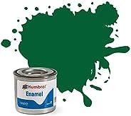 Humbrol Enamel Paint Tinlet 14ml Matt Light Green (120)