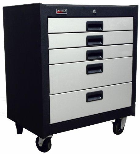 Homak 5 Drawer Mobile Cabinet, Steel, GS04005270
