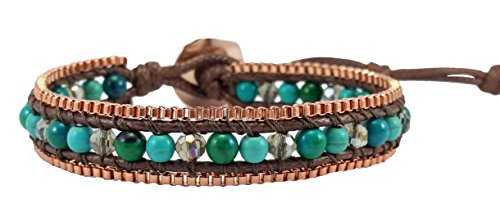 turquoise-agate-crystal-leather-wrap-bracelet-single-wrap-4mm-bead
