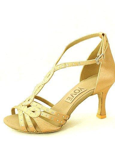 salsa satén talón azul negro personalizables de rojo zapatos rosa fucsia blanco personalizado baile ShangYi amarillo fucsia latino púrpura pKyKMc