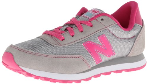 New Balance Lifestyle Grey Pink Youths Trainers Grey Pink