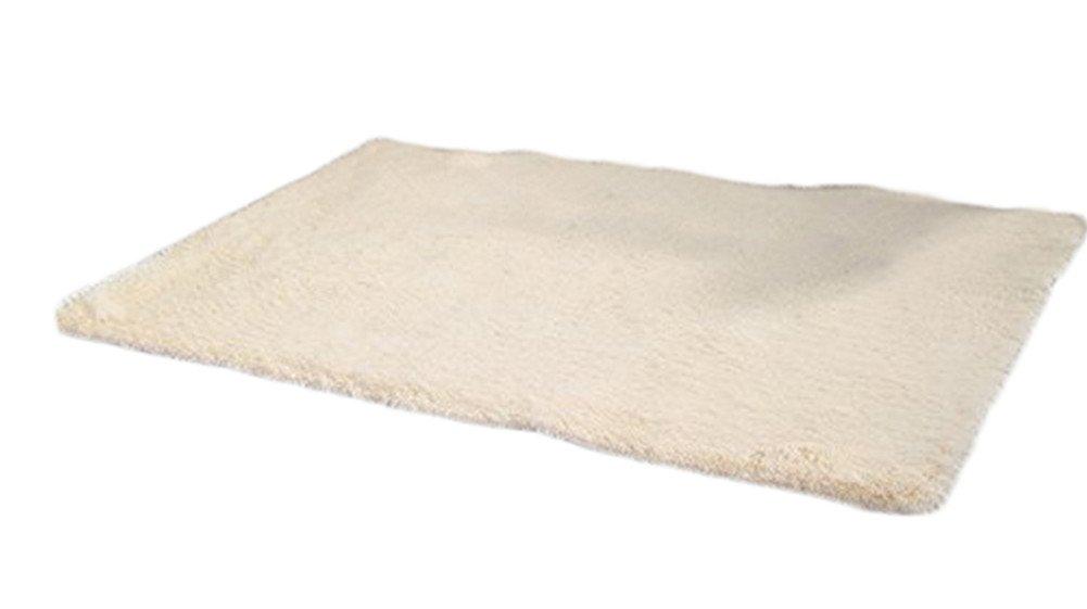 Cdet Modernas alfombras de seda sala de estar rectangular mesa de café sofá cama alfombras alfombras(Beige)