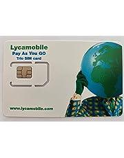Lycamobile 60 dagen USA SIM-kaart Prepaid (incl. Hawaii & Puerto Rico) - mobiele gegevens 4G / LTE, onbeperkt nationale & internat. Oproepen + sms (14GB voor 60 dagen (7GB elk 30 dagen))
