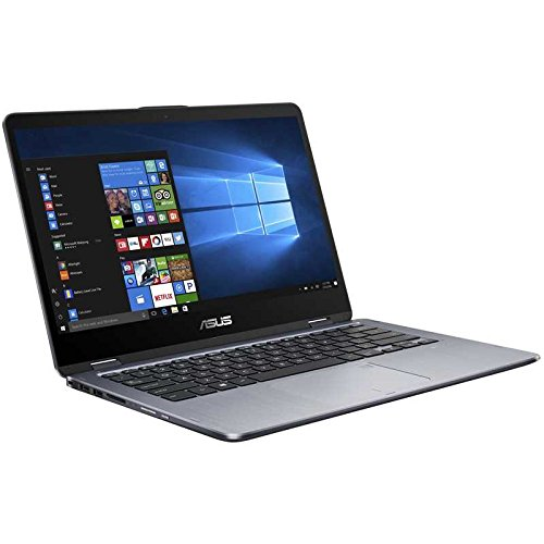 "ASUS VivoBook Flip 14 TP410UA-DB71T 14"" Thin and Lightweight 2-in-1 Full HD Touchscreen Laptop, Intel Core i7-7500U 2.7GHz Processor, 8GB DDR4 RAM, 1TB 5400RPM HDD, Windows 10 Home, Fingerprint Reader"