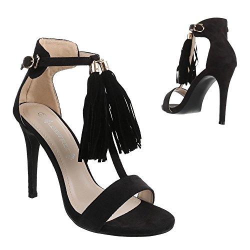 Ital-Design WoMen Sandals Black - Black