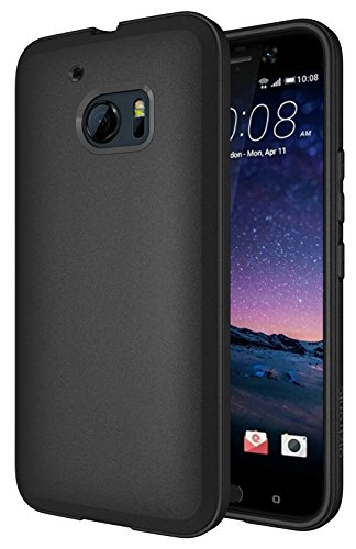 HTC 10 Case - Diztronic Full Matte TPU Series - Slim-Fit Soft Touch Flexible Phone Cover for HTC 10 (2016) - Full Matte Black