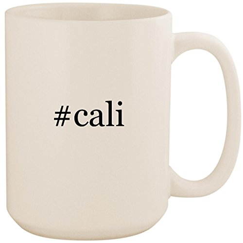 #cali - White Hashtag 15oz Ceramic Coffee Mug Cup