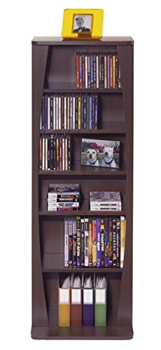 Atlantic 22535717 Canoe 231 Media Cabinet, Espresso, P2 by Atlantic
