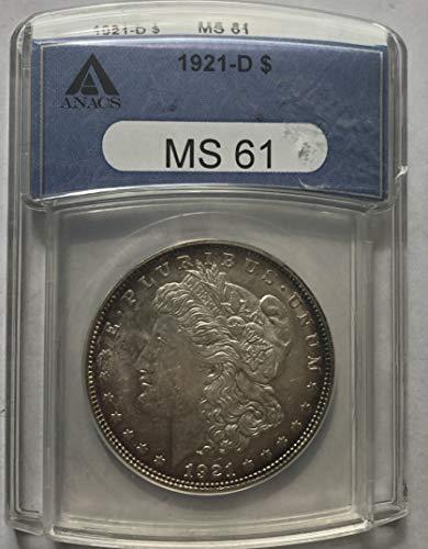 1921 D Silver Morgan Dollar MS-61 NGC ()