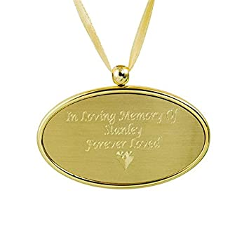 Brass Memorial Keepsake Necklace for Loss of Loved One – Gold Cremation Jewelry for Ashes – Custom Engraving Included