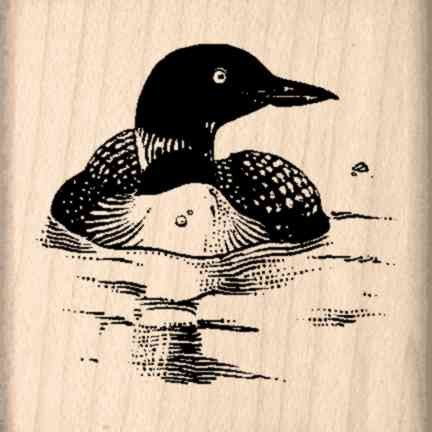 Loon Rubber Stamp – 1-1/2 inches x 1-1/2 inches