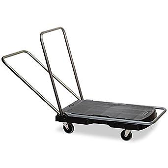 Rubbermaid Commercial Utility-Duty Home/Office Cart, 250 lb Capacity, 20-7/8 x 31-3/4 Platform, Black (440000)